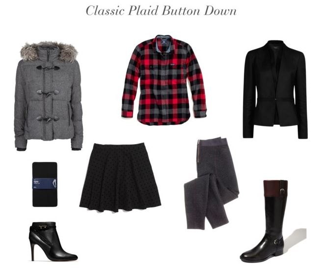 How She'd Wear It with Style and Cheek - Plaid Button Down | Plaid Trend 2013