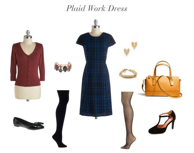 How She'd Wear It - Plaid Dress | Plaid Trend 2013