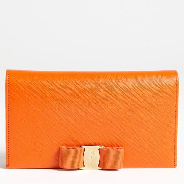 Salvatore Ferragamo Miss Vara Clutch Wallet in Sunset