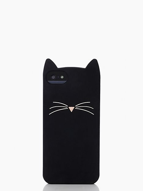 Kate Spade Black Cat Silicone iPhone 5 Case | Fancy Friday Kate Spade Gift Ideas