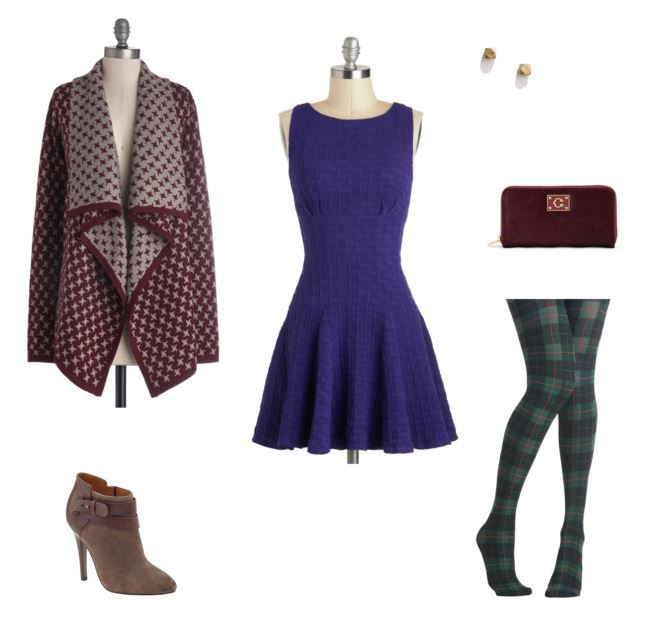 How She'd Wear It with Style and Cheek - Dressing Up Cobalt Dress