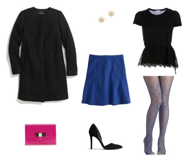 How She'd Wear It with Style and Cheek - Dressing Up Cobalt Skirt