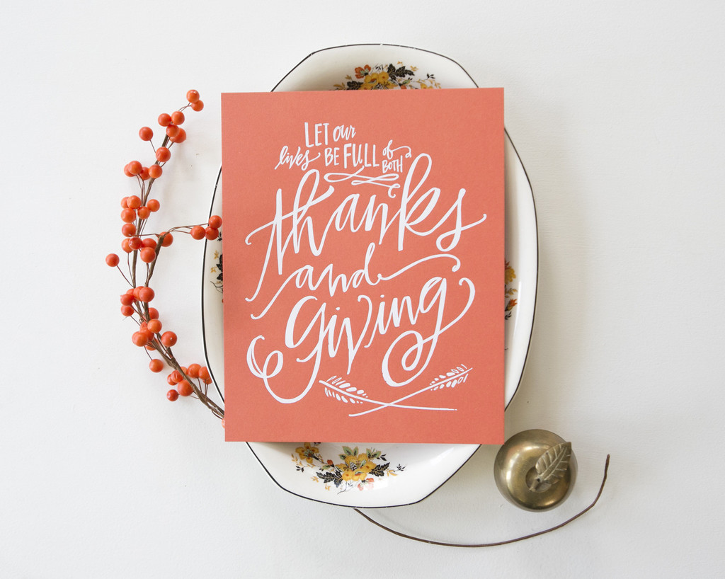 Thanks and Giving Print | Lindsay Letters | Happy Thanksgiving!