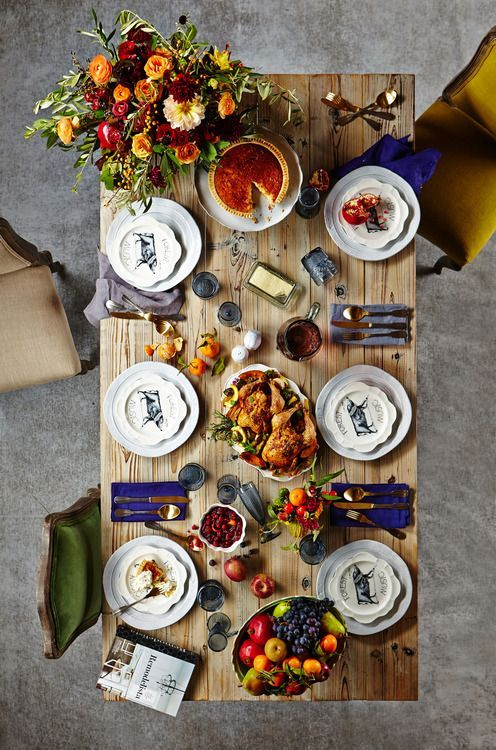 Pinterest Picks A Colorful Thanksgiving Table