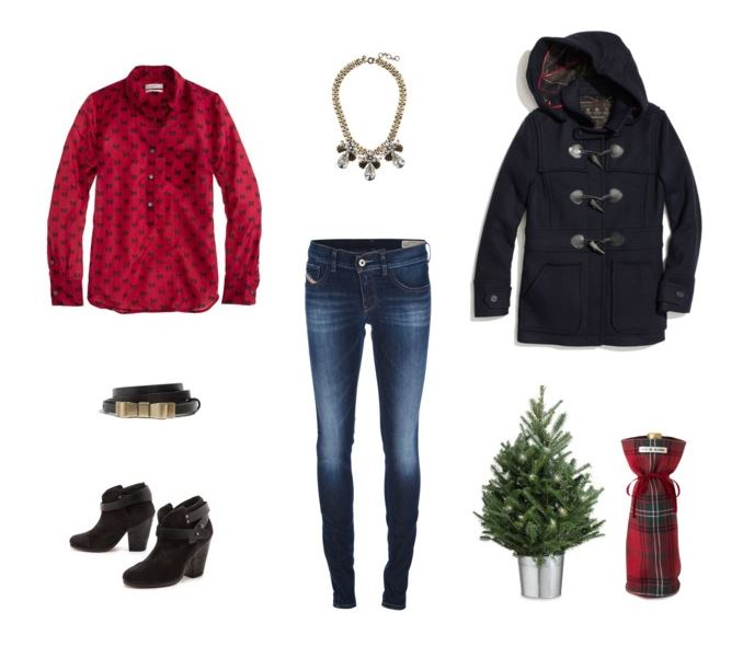 How She'd Wear It with Style and Cheek | Christmas Day Outfits