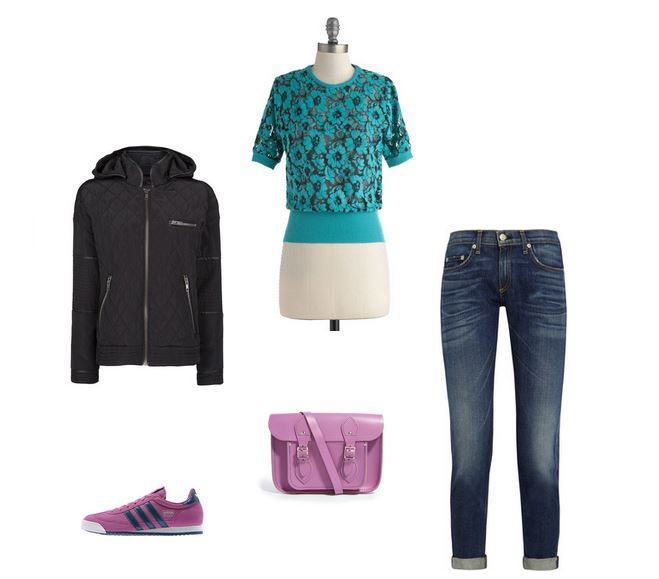 How She'd Wear It with Style and Cheek - Casual Radiant Orchid Accessories