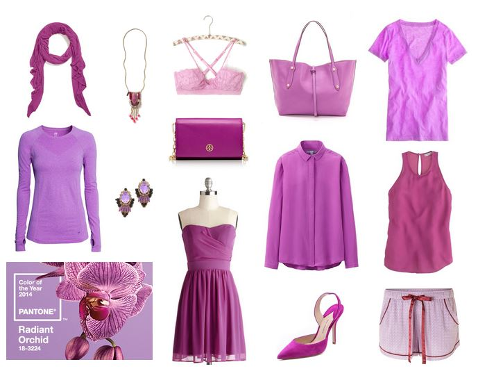 How She'd Wear It - Pantone Color of the Year Radiant Orchid 2014