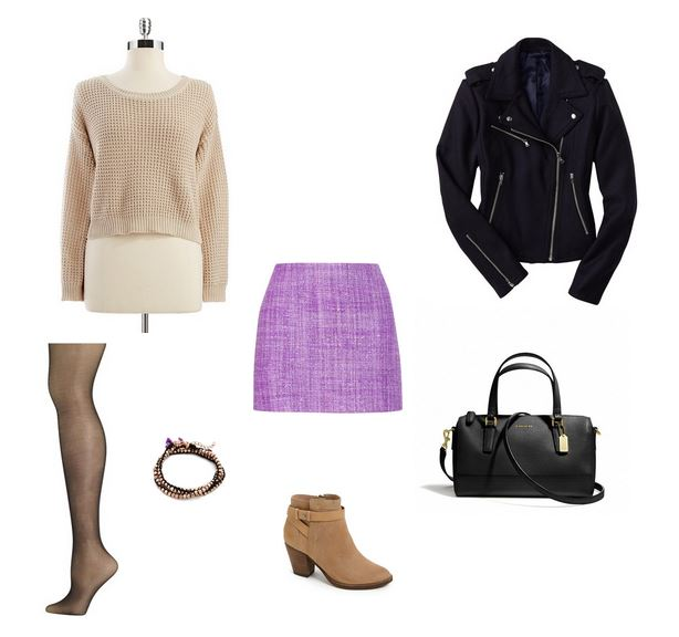 How She'd Wear It with Style and Cheek - Radiant Orchid Date Outfits - Cropped Sweater