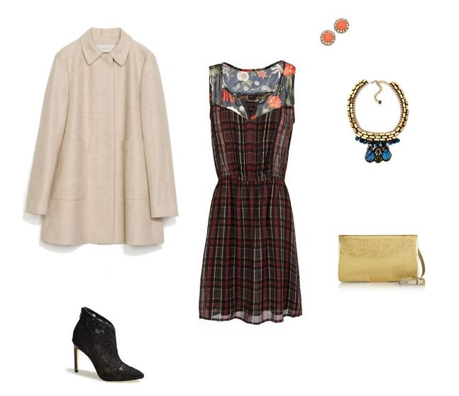 How She'd Wear It with Style and Cheek - Red and Black Plaid Dress