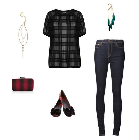 How She'd Wear It with Style and Cheek - Red and Black Plaid