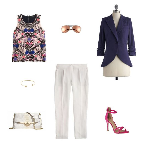 How She'd Wear It with Style and Cheek - Pink with Neutrals Cool