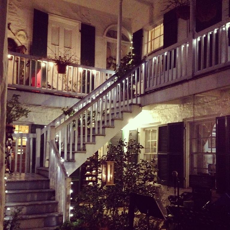 Beauregard Keyes House courtyard   Justin and Kathryn's New Orleans Wedding