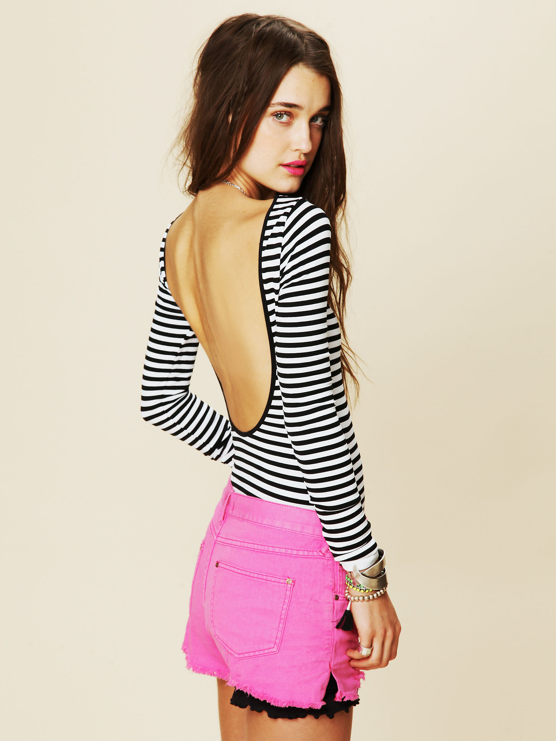 ebd6a244b4 Free People Intimately Striped Low Back Top | Pinterest Picks - Black and White  Stripes