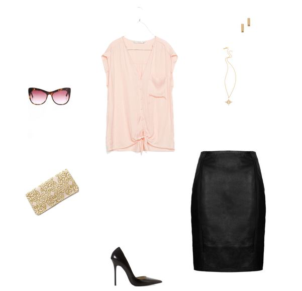 How She'd Wear It with Style and Cheek - Pink and Black for Night | Pink Day to Night