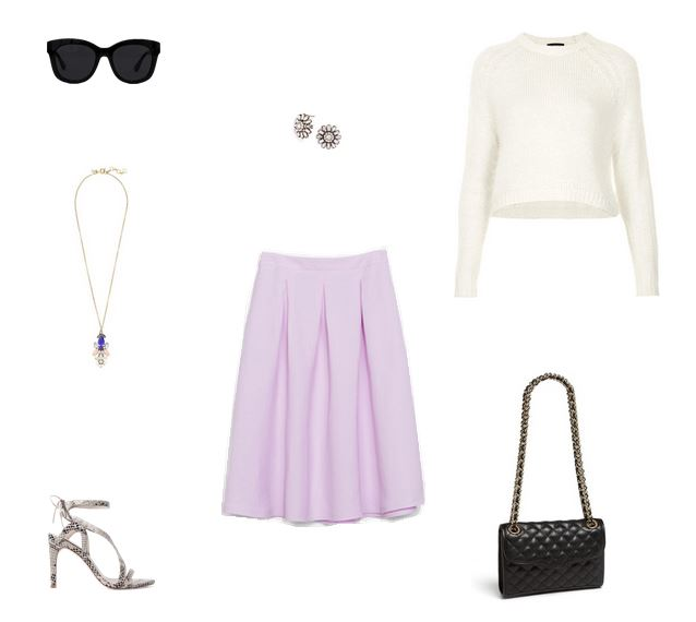 How She'd Wear It with Style and Cheek - Midi Skirt with Cropped Sweater | Midi Skirt and Crop Top