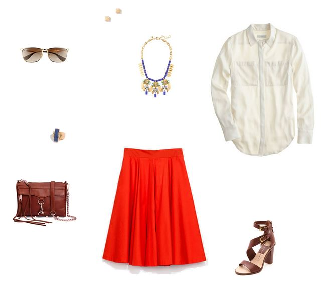 How She'd Wear It - Midi Skirt with White Button Down | Midi Skirt with Button Down
