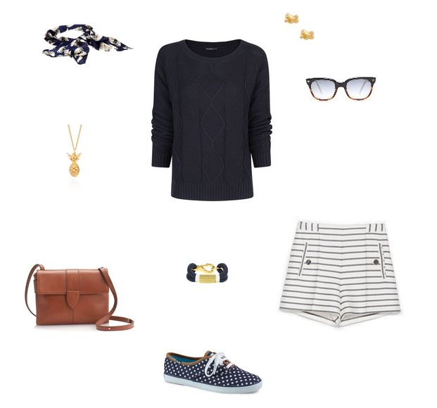 How She'd Wear It - Nautical Navy and White Stripes