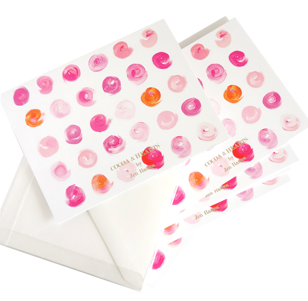 MadeByGirl Lipstick Dots Notecards | Fancy Friday - Inspired by MadeByGirl