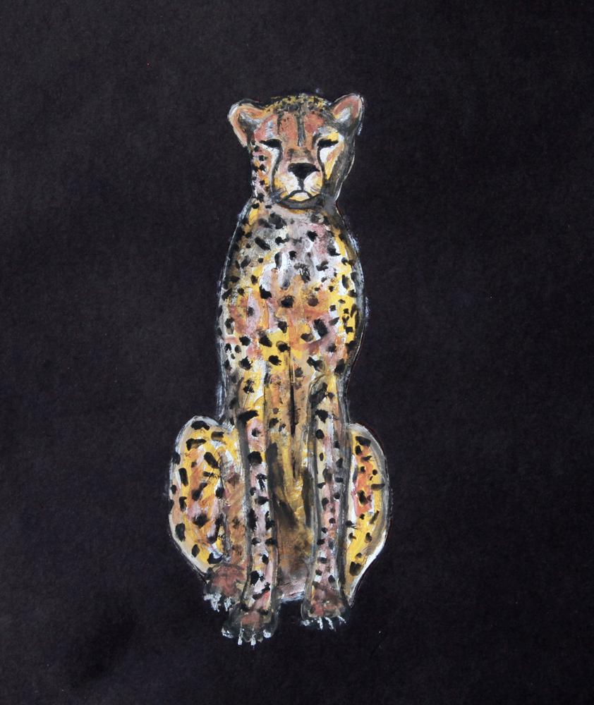 MadeByGirl Sitting Cheetah by Jen Ramos | Fancy Friday - Inspired by MadeByGirl