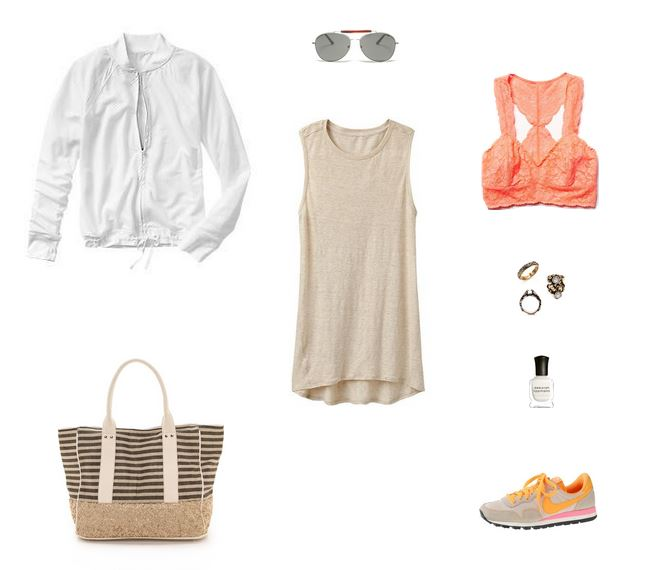 How She'd Wear It with Style and Cheek - Yoga Dress and Sneakers Neutral
