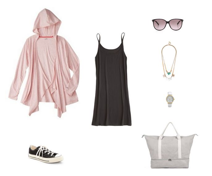How She'd Wear It with Style and Cheek - Yoga Dress and Sneakers