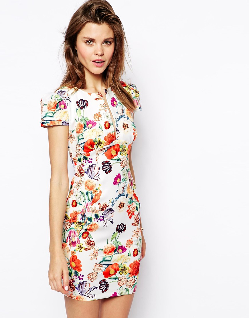 ASOS Sexy Mini Dress in Floral Print | Fancy Friday - Garden Party Floral Prints