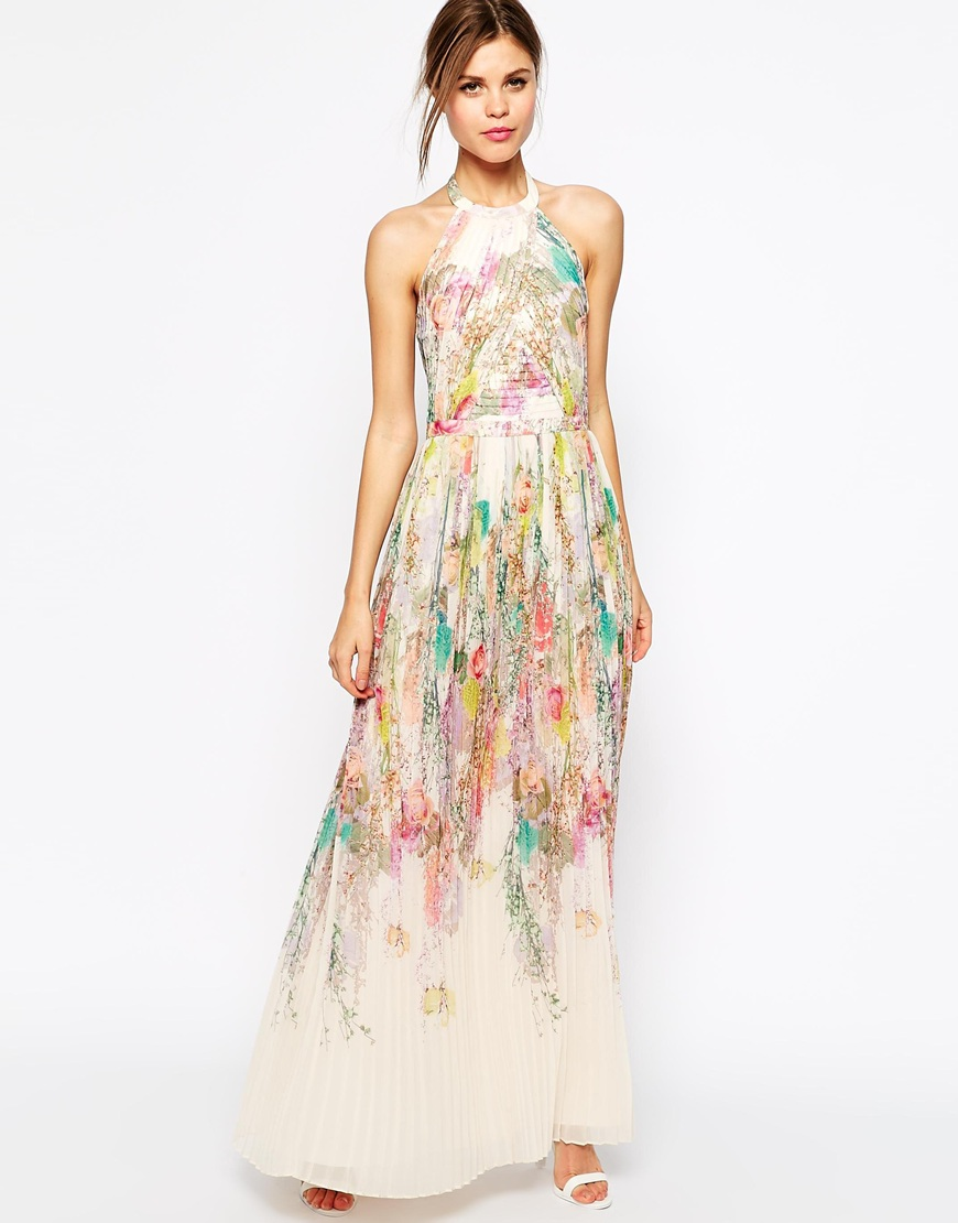 Ted Baker Maxi Dress in Wispy Meadow Print | Fancy Friday - Garden Party Floral Prints