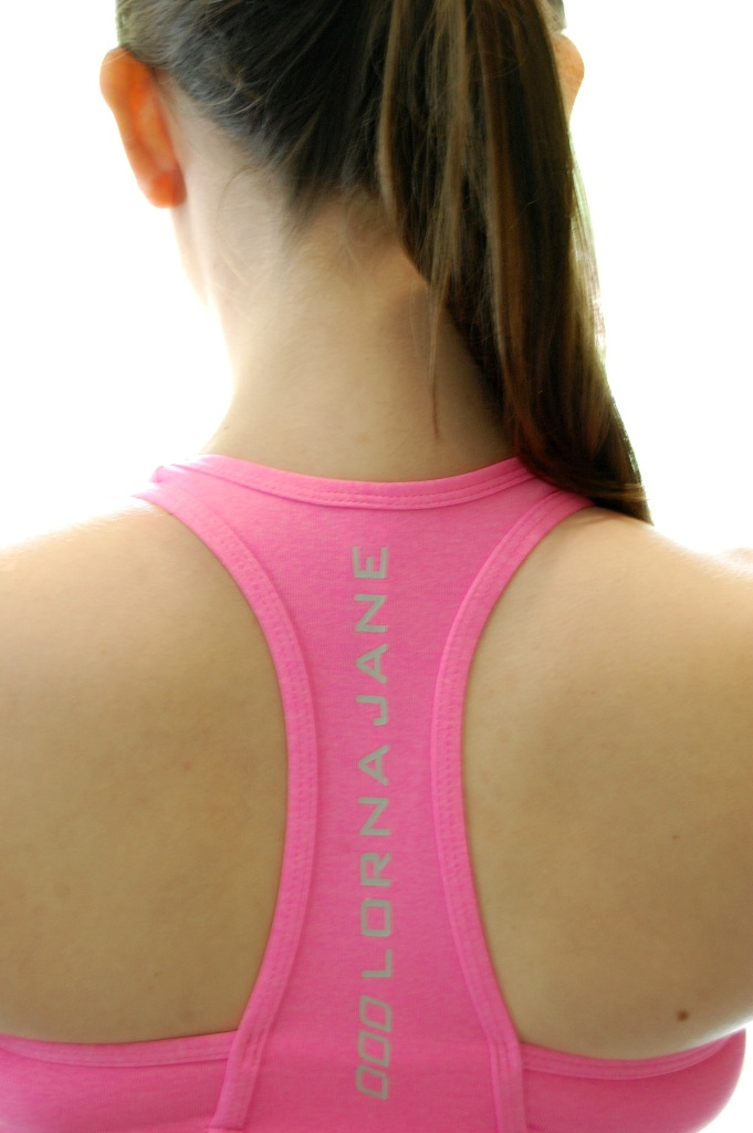 Lorna Jane Arena Sports Bra back | Lorna Jane Review and Giveaway with Style and Cheek