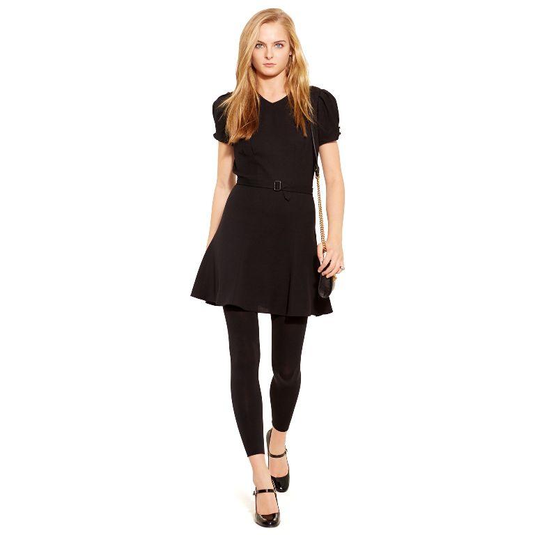 Polo Ralph Lauren Belted Crepe Dress | Fancy Friday - Polo Ralph Lauren Fall Dresses and Skirts