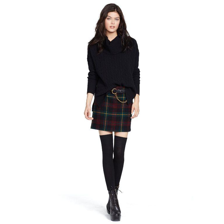 Polo Ralph Lauren Plaid Wool-Blend Miniskirt | Fancy Friday - Polo Ralph Lauren Fall Dresses and Skirts