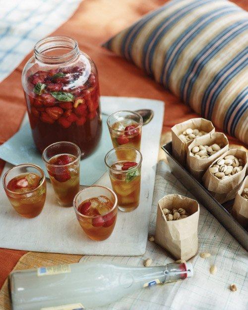 Strawberry Basil Iced Tea | Martha Stewart | Pinterest Picks - Flavored Iced Tea Recipes