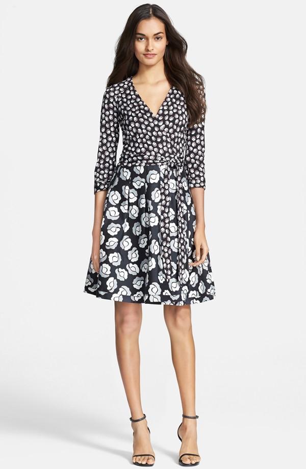Diane von Furstenberg Jewel Silk & Cotton Wrap Dress | Fancy Friday - Diane von Furstenberg Wrap Dresses