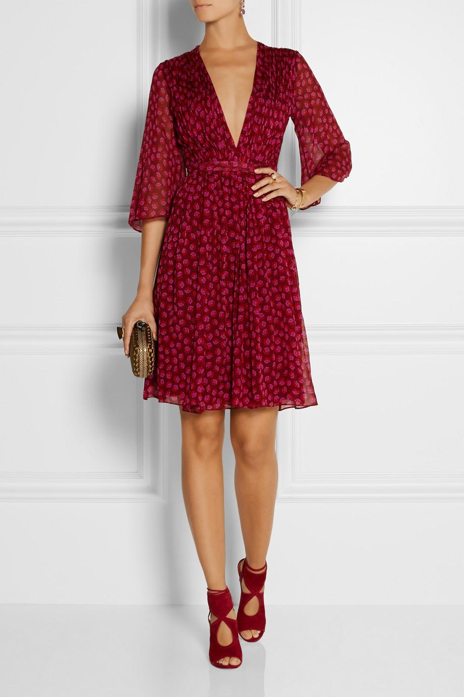 Diane von Furstenberg printed silk-georgette wrap dress | Fancy Friday - Diane von Furstenberg Wrap Dresses | Style and Cheek's Favorite Blog Posts of 2014
