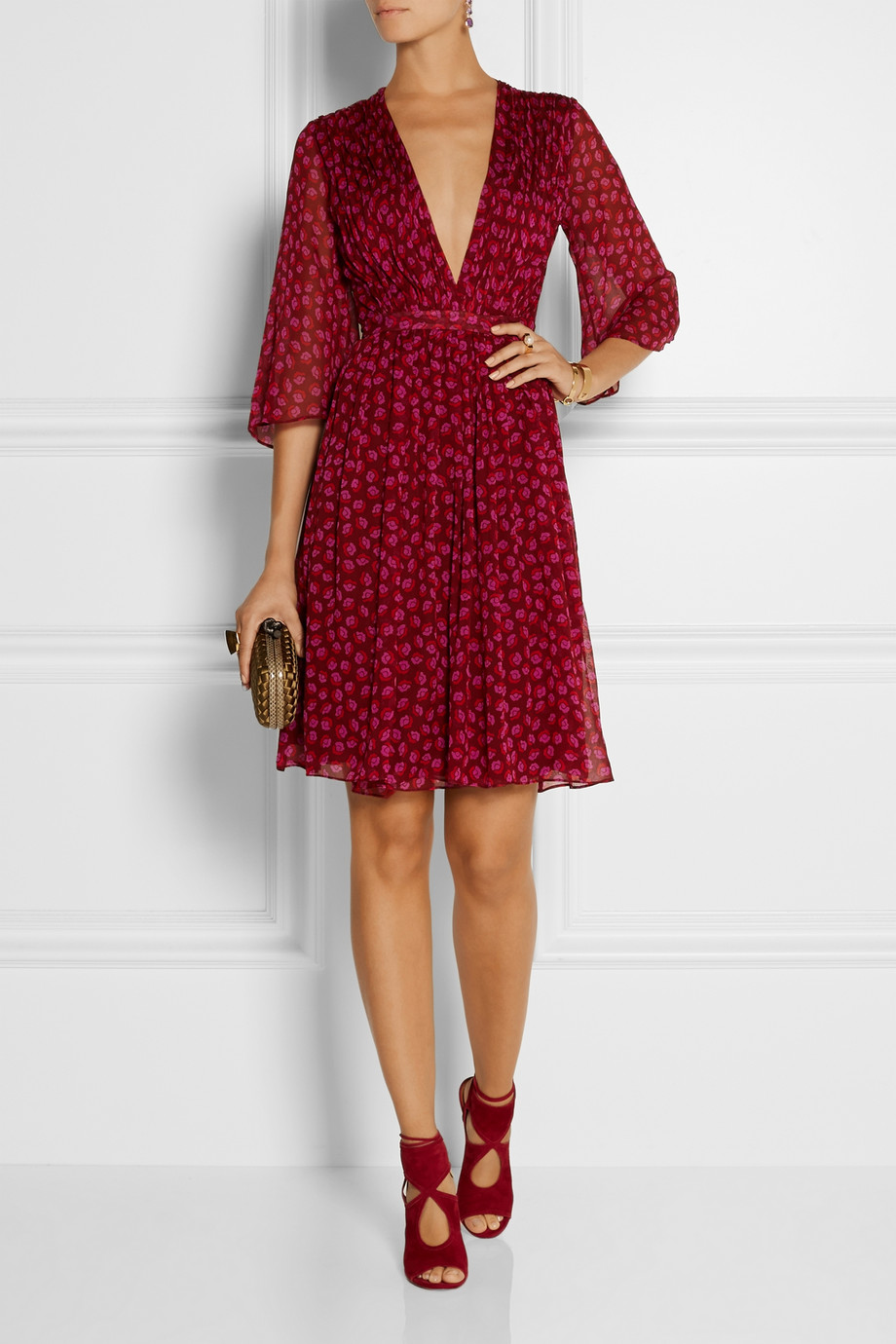 Diane von Furstenberg printed silk-georgette wrap dress | Fancy Friday - Diane von Furstenberg Wrap Dresses | Style and Cheek's Favorite Blog Posts of 2014