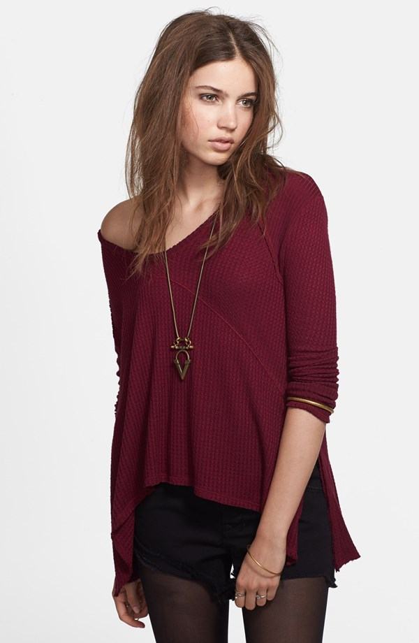 Free People Sunset Park Thermal Top | Mad About Burgundy Fall 2014