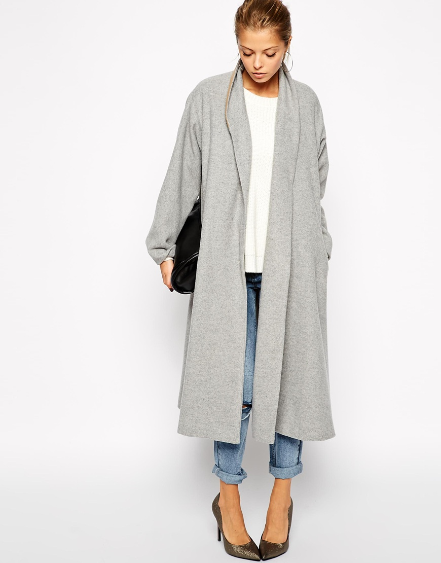 ASOS Coat in Midi Swing Trapeze | Fall Coats for 2014