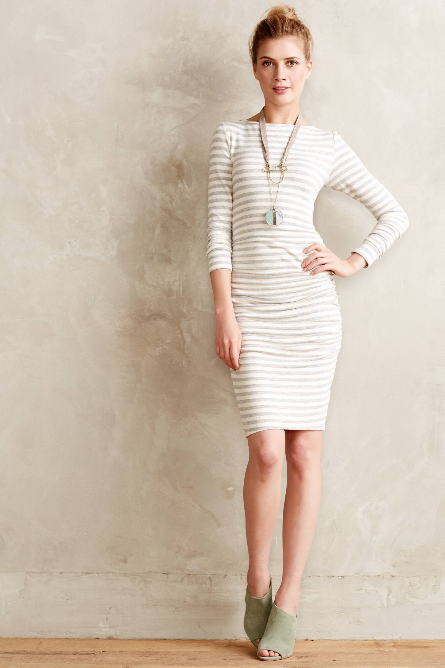 Anthropologie Dune Lines Dress | How to Wear Dresses in Fall