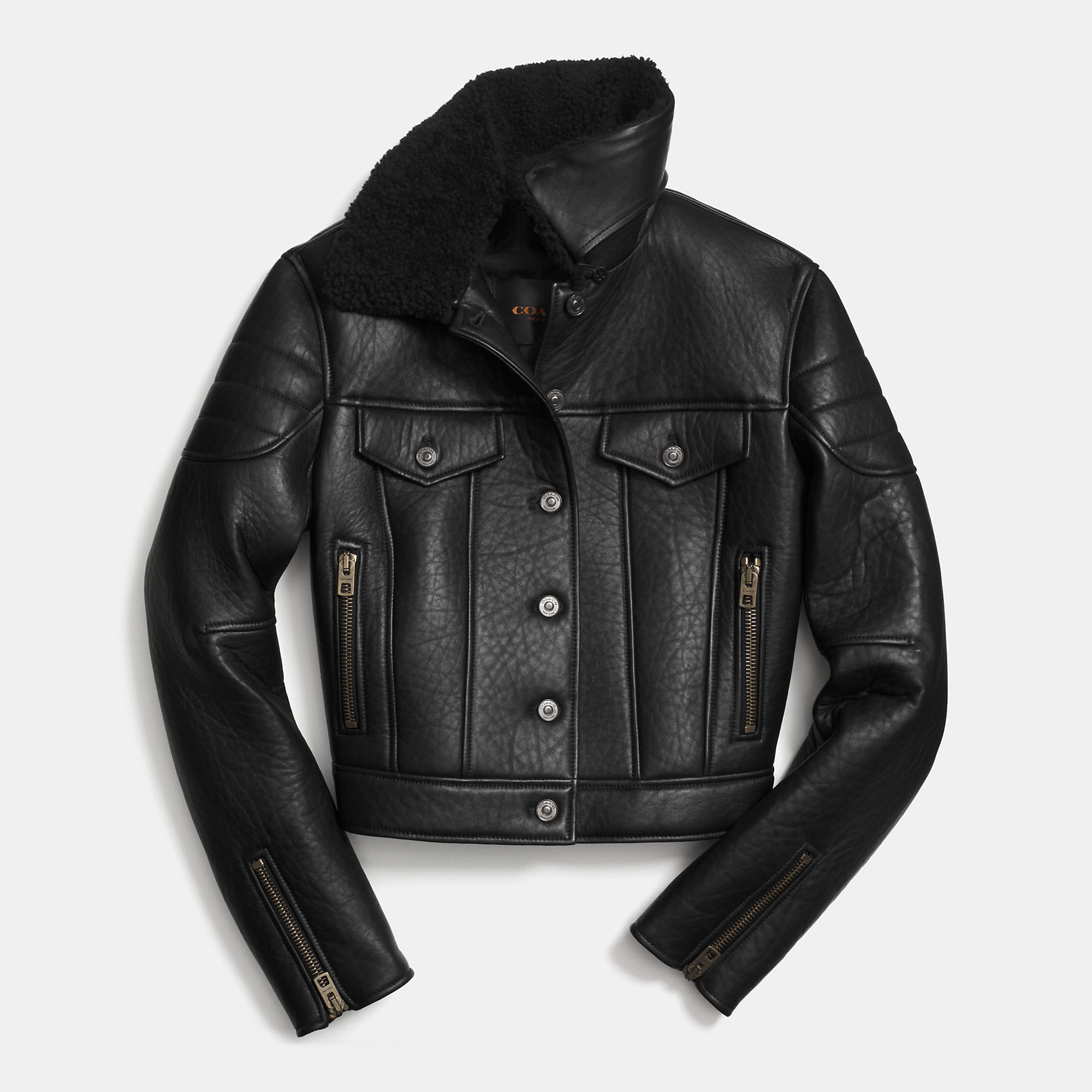 Coach Leather Biker Jacket | Fancy Friday – Coach Fall 2014 Collection