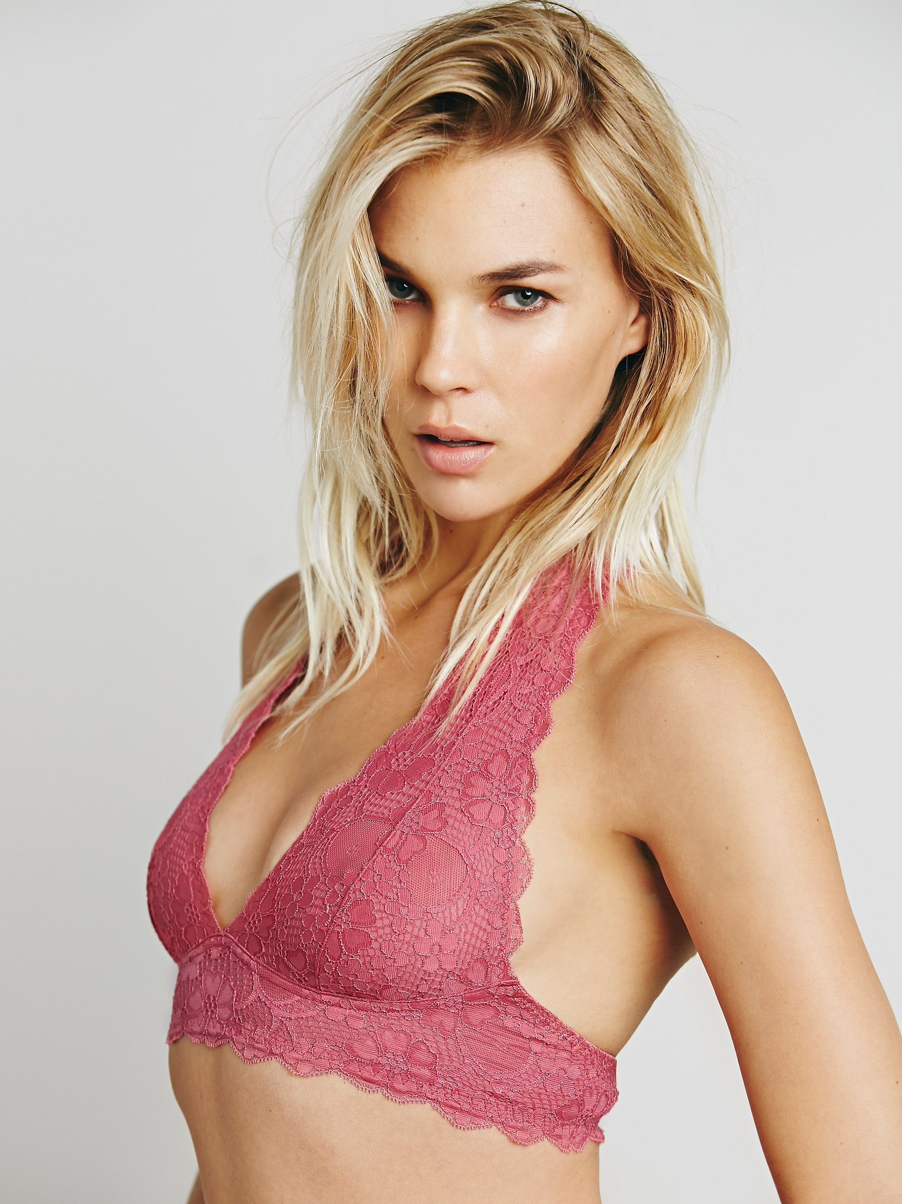Free People Galloon Lace Halter Bra | Comfortable Bras to Wear When a Sports Bra Won't Do