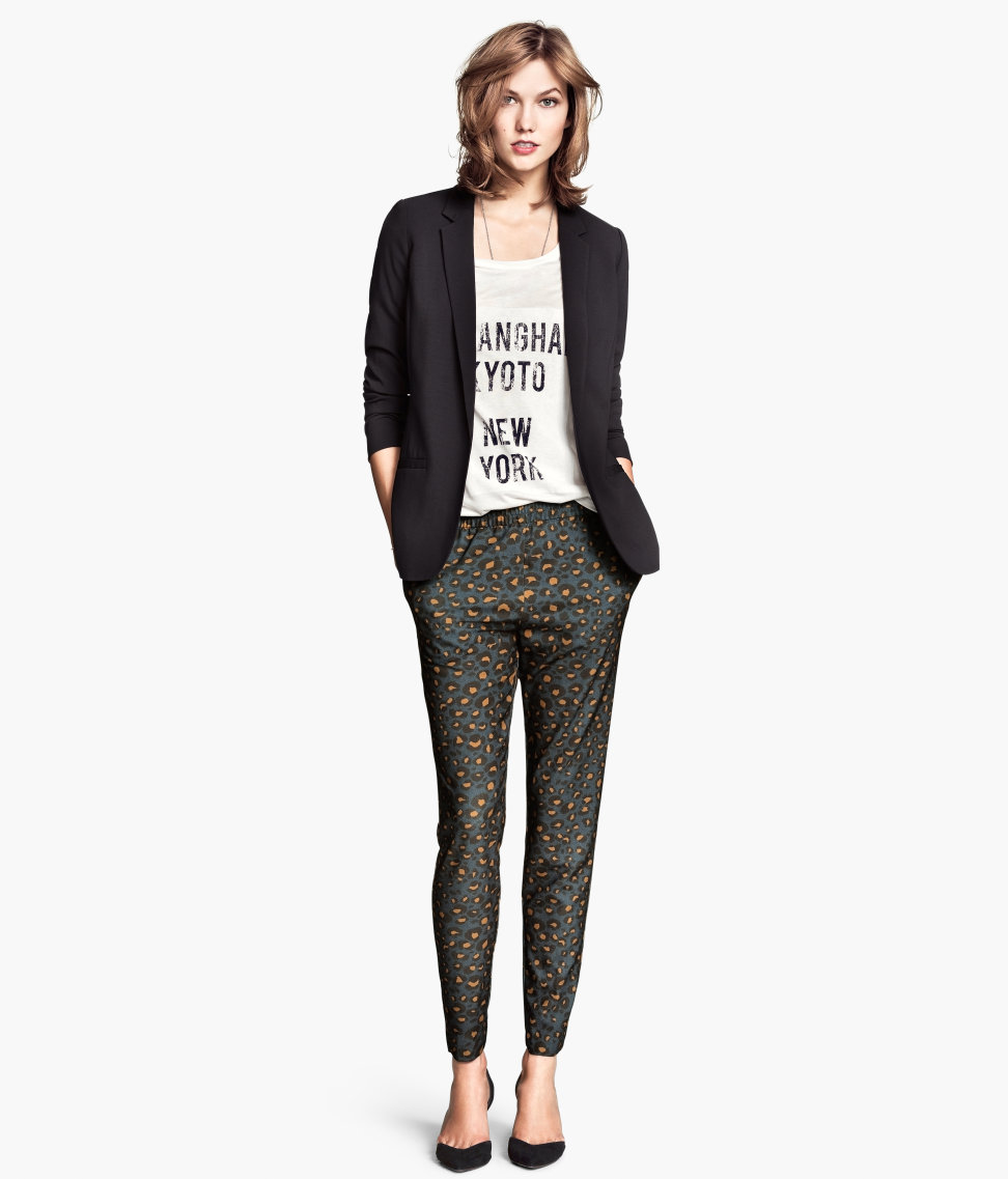 H&M Loose Fit Pants in Leopard print   Leopard Print Fall 2014