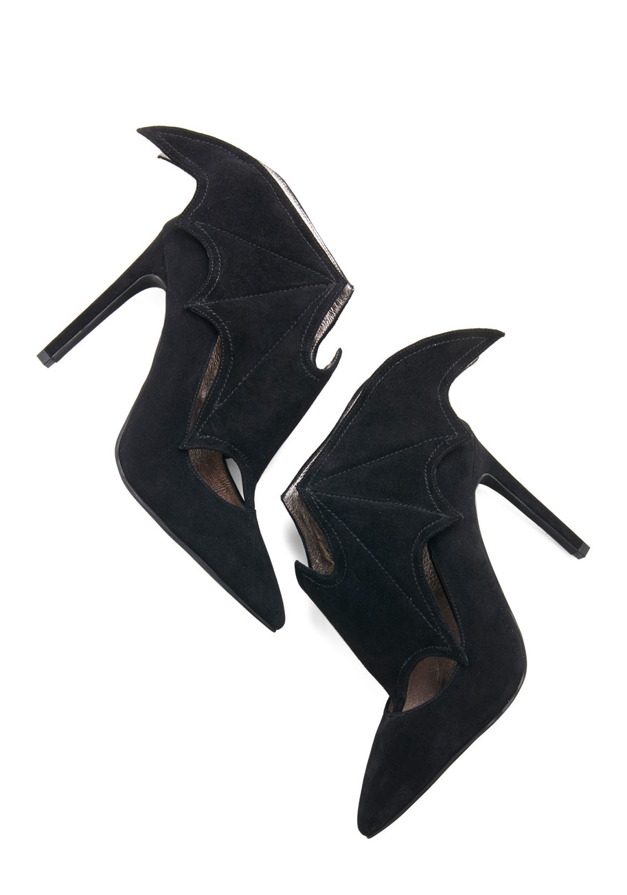 Jeffrey Campbell All Bat and More Heel from ModCloth | Spooky Style - The Black and White Edition