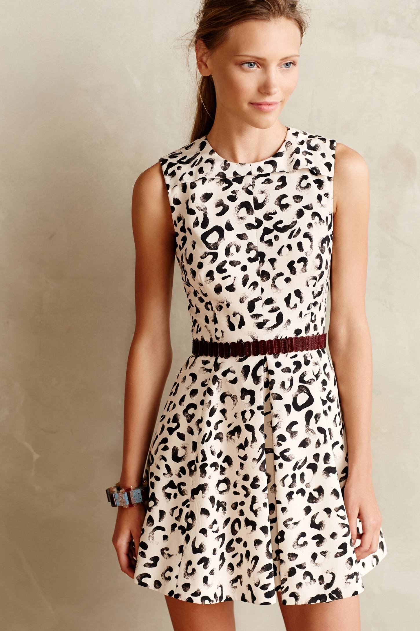Leopop Flared Dress by Keepsake from Anthropologie   Leopard Print Fall 2014
