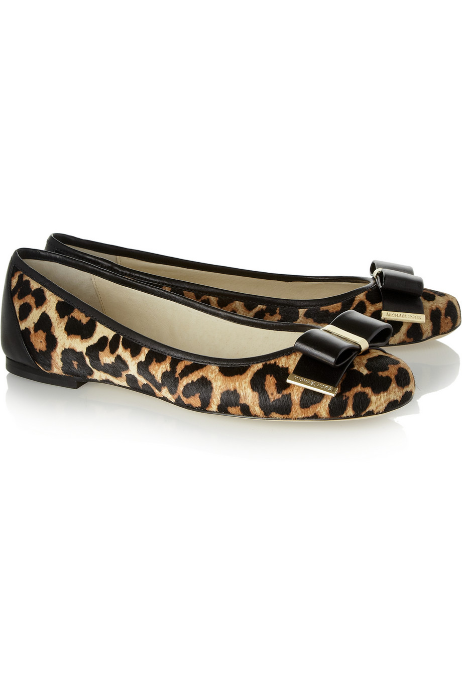 MICHAEL MICHAEL KORS Kiera Leopard-print Calf Hair Ballet Flats   Leopard Print Fall 2014
