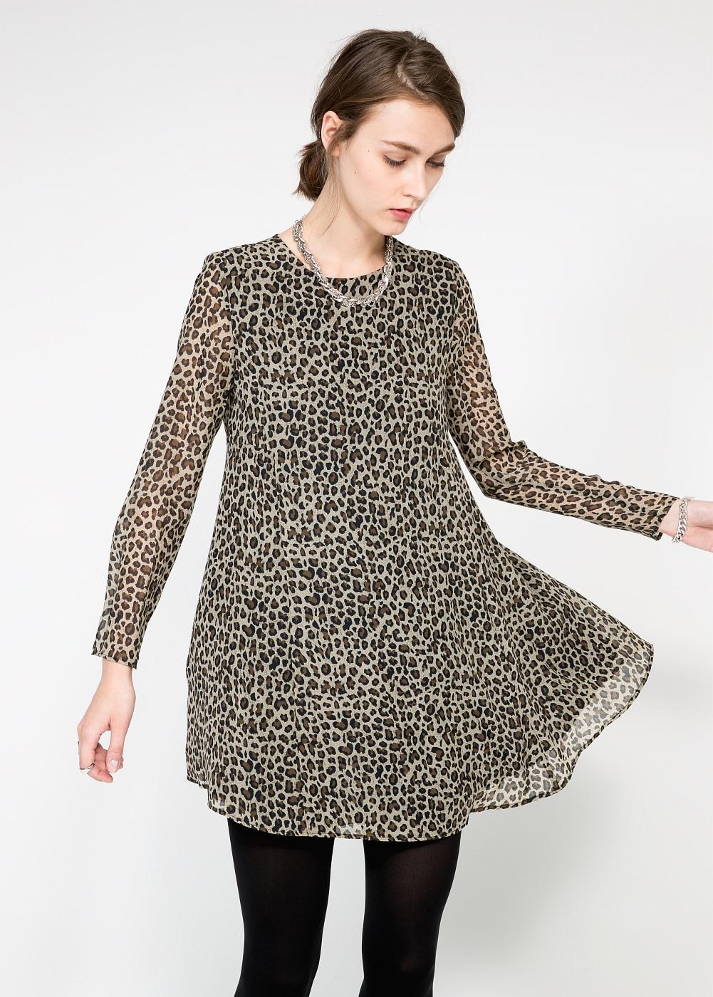 Mango Leopard Print Dress | Leopard Print Fall 2014