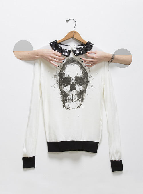 ModCloth Skull You Could Ever Want Sweater | Spooky Style - The Black and White Edition