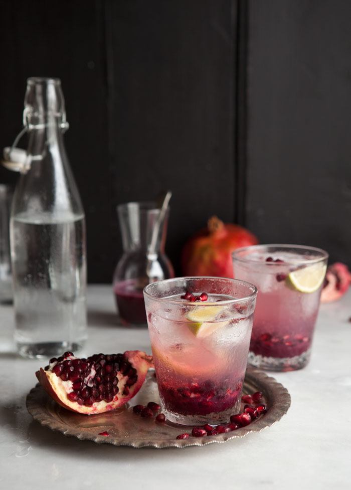 Pomegranate and Ginger Spritzer Drizzle and Dip | Six Fall Cocktails to Try this Season