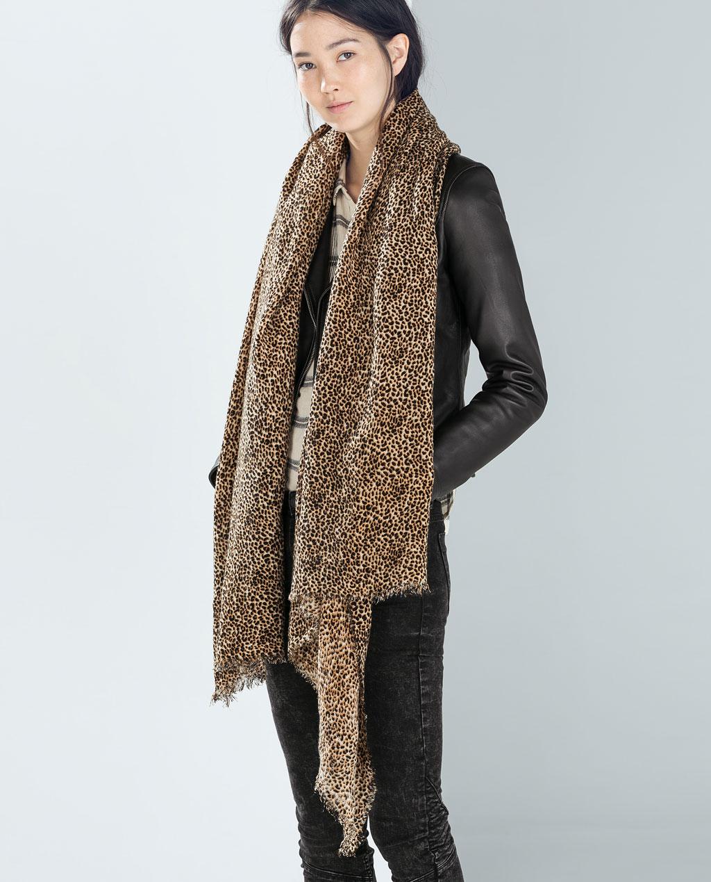 Zara Animal Print Scarf | Leopard Print Fall 2014