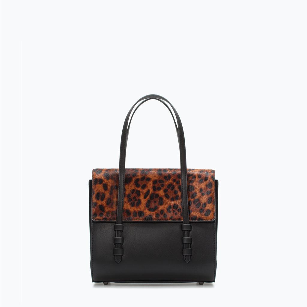 Zara Leopard Print Mini City Bag   Leopard Print Fall 2014