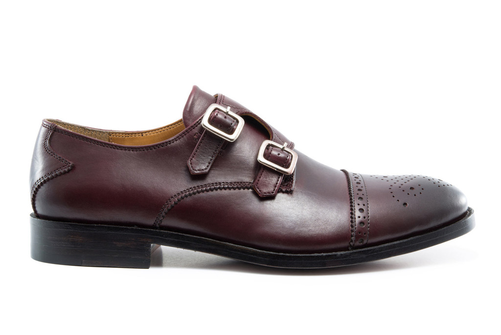 Beckett Simonon Goodyear Welted Hoyt Double Monk Straps in Burgundy | 10 Fall Wardrobe Essentials for Men