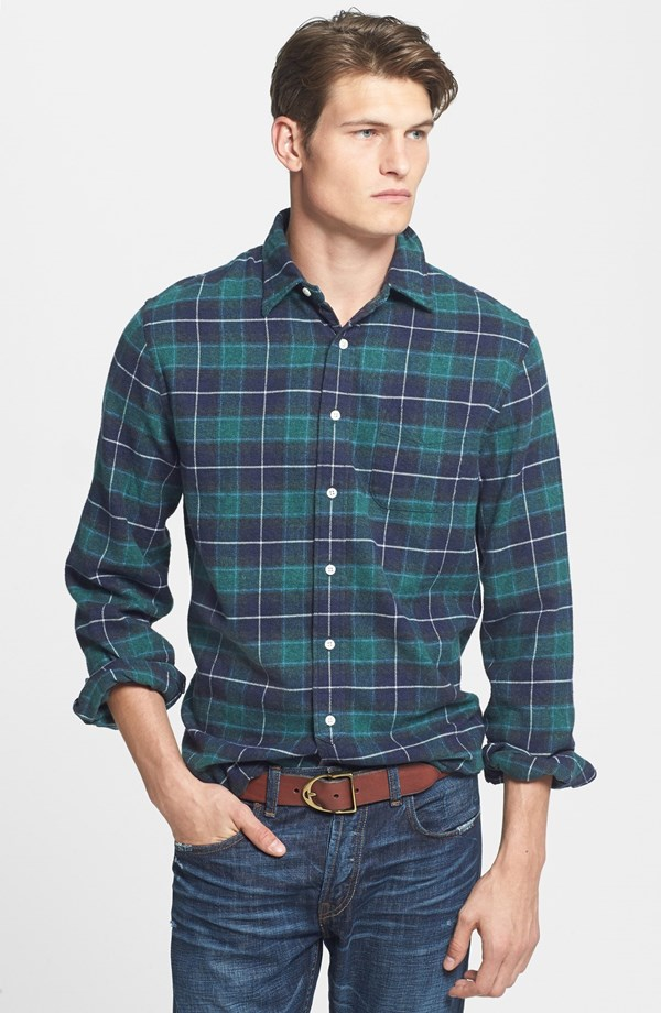 Grayers 'Luxury' 3-Ply Brushed Twill Flannel Shirt | 10 Fall Wardrobe Essentials for Men